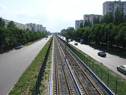 How to get to проспект Леся Курбаса with public transit - About the place