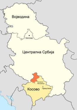 mapa srbije kosovo Северно Косово — Википедија, слободна енциклопедија mapa srbije kosovo