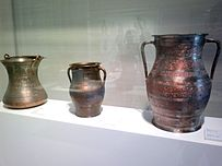 Сopper vessels of middle ages in Heydar Aliyev Center.jpg