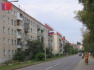 Zhirnovsk - Lomonosova Street in central Zhirnovsk