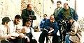 مجید بهشتی در پشت صحنه سریال بافته های رنج در برقان کرج.jpg