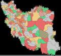 نتیجهٔ انتخابات مجلس شورای اسلامی (۱۳۸۶-۸۶) بر پایهٔ فهرست پیروز در حوزهٔ انتخابی.png