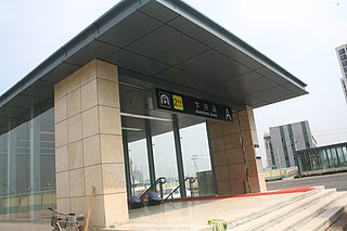 Bianxing station metro station in Tianjin, China