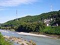 新椿大橋から吉野川を見る Yoshinogawa riv. 2013.9.28 - panoramio.jpg