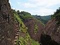 隐屏峰-天游峰小路 - Path Connecting Yinping Peak and Tianyou Peak - 2015.07 - panoramio.jpg