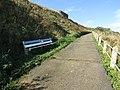 -2018-10-10 Bench on Cardiac Hill beach footpath, Mundesley Beach (1).JPG