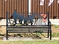 -2019-08-25 WW1 commemorative bench, Mundesley Road, Trimingham.JPG