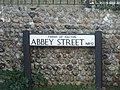 -2019-12-30 Street name sign, Abbey Street, Bacton (2).JPG