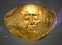 0159 - Archaeological Museum, Athens - Mask from Mycenae - Photo by Giovanni Dall'Orto, Nov 10 2009.jpg