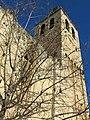 073 Monestir de Sant Cugat del Vallès, campanar, façana sud.JPG