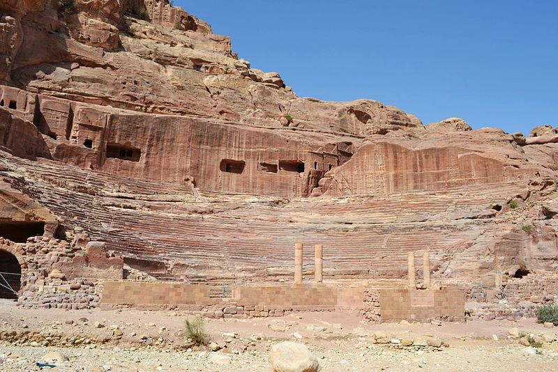 File:09 Petra High Place of Sacrifice Trail - The Amphitheater - panoramio.jpg