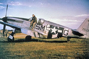 Saint-Dizier – Robinson Air Base - North American P-51C-5-NT Mustang (F-6C) Serial 42-103368 of the 15th Tactical Reconnaissance Squadron, 10th TRG at A-64, St. Dizler, France, Autumn 1944.