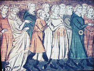 History of the Jews in France - A miniature from Grandes Chroniques de France depicting the expulsion