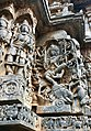 12th-century Nataraja dancing on elephant head at Shaivism Hindu temple Hoysaleswara arts Halebidu Karnataka India.jpg