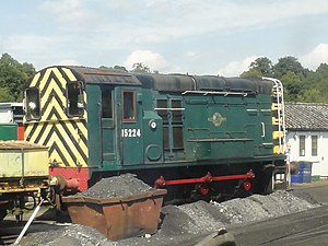 British Rail Class 12 - 15224 at Spa Valley Railway, Tunbridge Wells West depot 31 July 2011