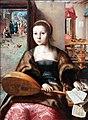 1550 van Hemessen Maria Magdalena, im Hintergrund Christus bei Martha anagoria.JPG