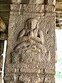 15th-16th century Achyutaraya temple yoga asana 3, Hampi Hindu monuments Karnataka.jpg