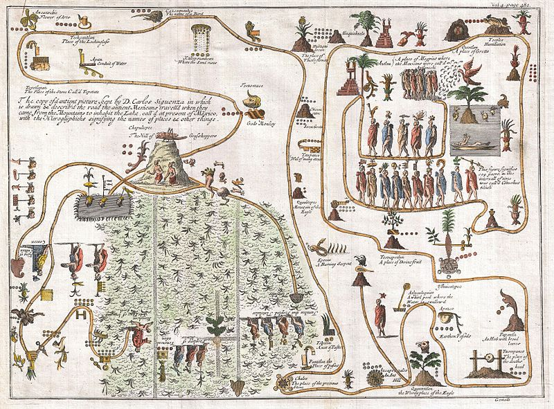 File:1704 Gemelli Map of the Aztec Migration from Aztlan to Chapultapec - Geographicus - AztecMigration-gemelli-1704.jpg