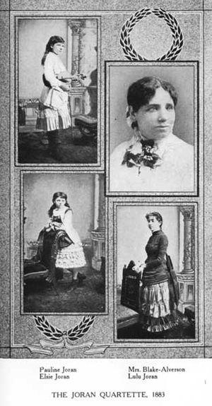 Pauline Joran - The Joran Quartet, circa 1884.