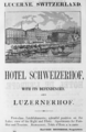 1885 Hotel Schweizerhof Lucerne ad Harpers Handbook for Travellers in Europe.png