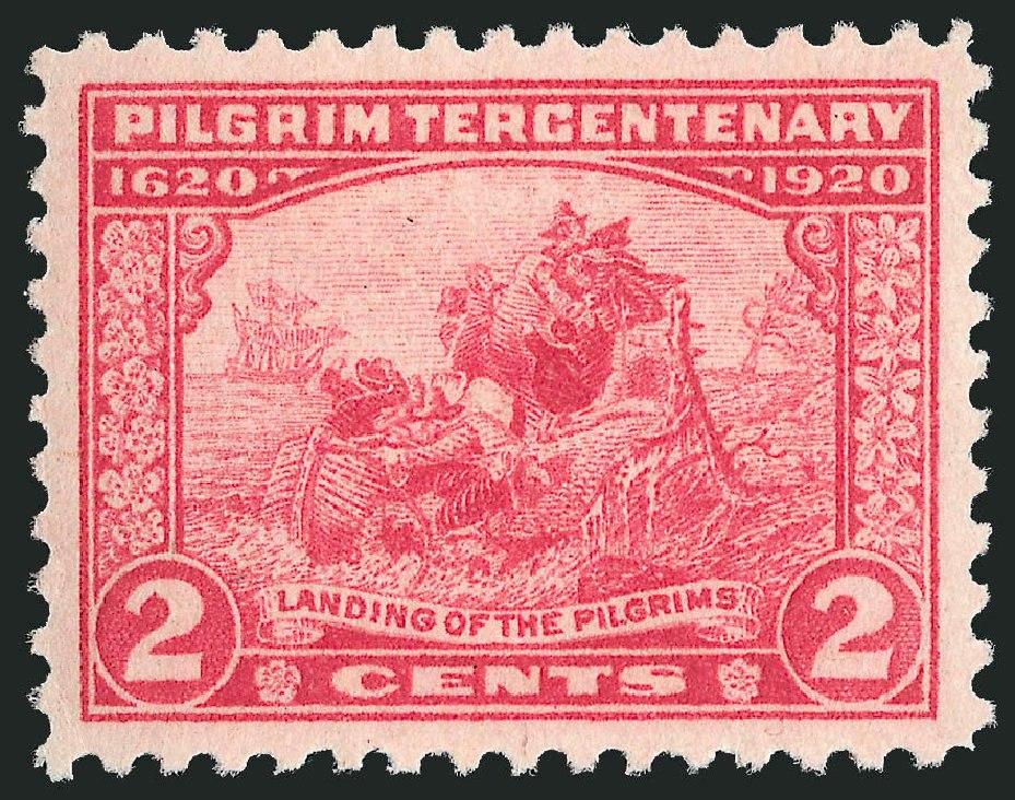 1920USstamp2centPilgrimTercentenaryLanding