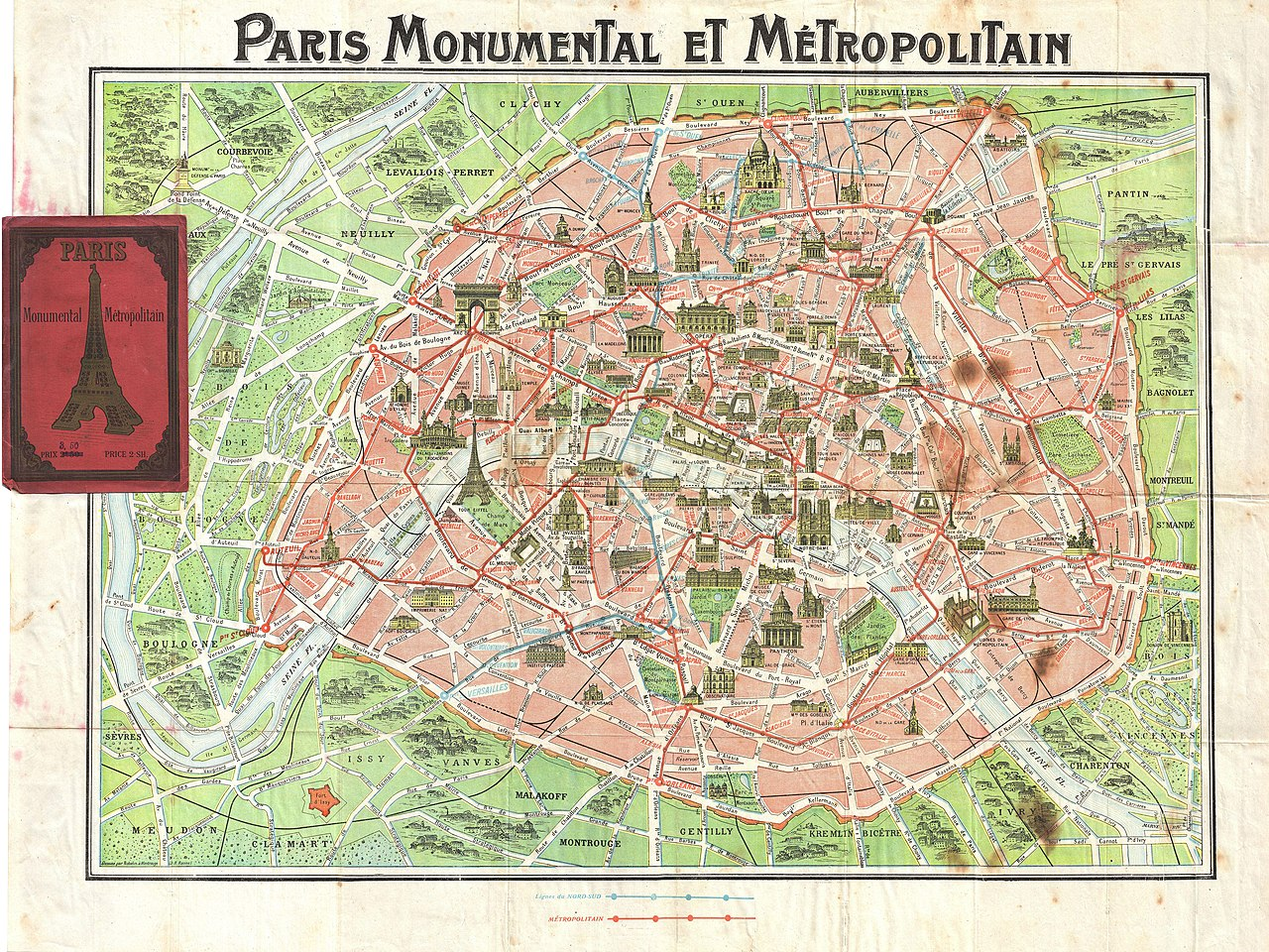 File1920 Robelin Map of Paris France Geographicus Paris – Metro Map Paris English