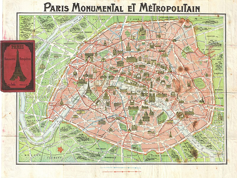 Map Beagreencommuter - Paris transit map