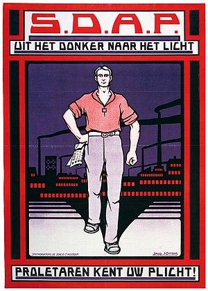 Dutch general election, 1925 - A 1925 SDAP election poster