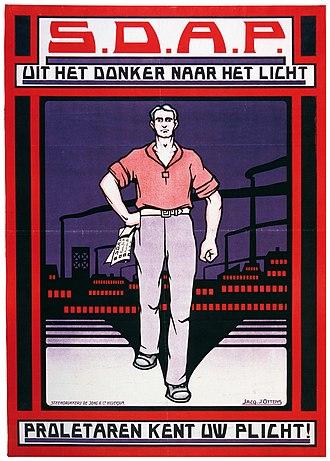 1925 Dutch general election - A 1925 SDAP election poster