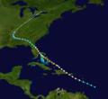 1926 Nassau Hurricane track.png
