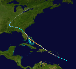 1926 Nassau hurricane - Image: 1926 Nassau Hurricane track