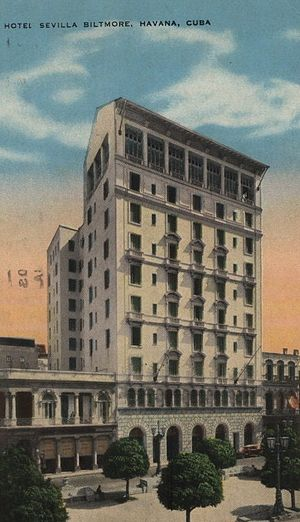 Hotel Sevilla - The 1924 tower wing of the Hotel Sevilla-Biltmore, 1931
