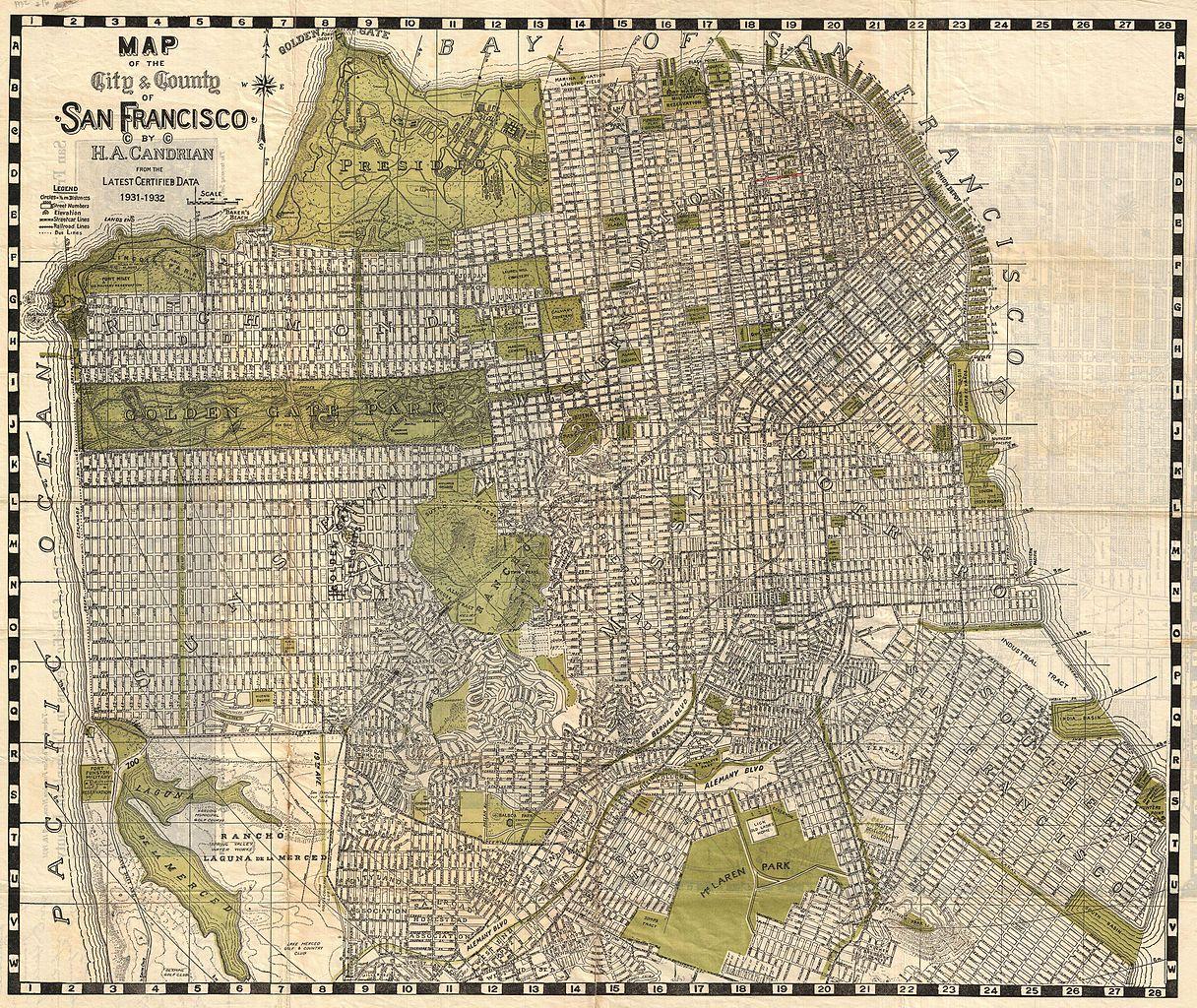File 1932 Candrain Map Of San Francisco California