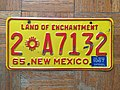 1965-67 New Mexico (USA) license plate.jpg