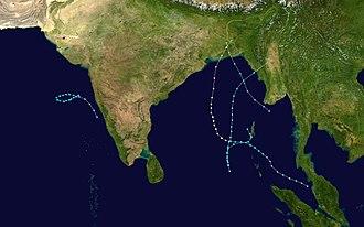 1988 North Indian Ocean cyclone season - Image: 1988 North Indian Ocean cyclone season summary