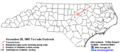 1988 Raleigh tornado outbreak - Path.png