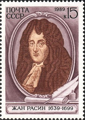 Jean Racine - Jean Racine on the 1989 USSR commemorative stamp