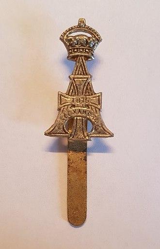 19th Royal Hussars - Cap badge of the 19th Royal Hussars