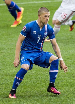 Jóhann Berg Guðmundsson - Jóhann playing for Iceland against Hungary at UEFA Euro 2016