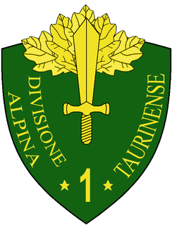 1st Alpine Division Taurinense World War II light Infantry division of the Italian Army
