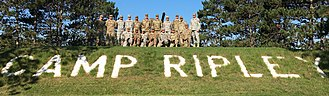 Camp Ripley - Unit photo at the entry to Camp Ripley