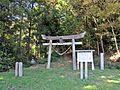 1st torii gate of Sakamine-jinja shrine in Haramachi ward.JPG
