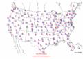2002-10-03 Max-min Temperature Map NOAA.png