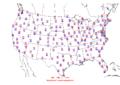2006-06-17 Max-min Temperature Map NOAA.png