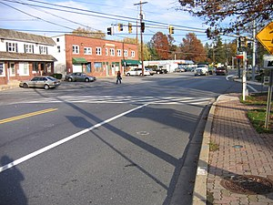 Ashton-Sandy Spring, Maryland - Route 108 in Sandy Spring, Maryland, in November 2006.