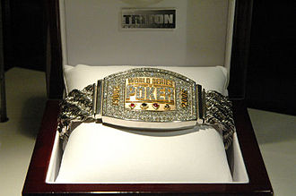World Series of Poker bracelet - 2006 World Series of Poker Championship bracelet Made of white and yellow gold, diamonds, rubies and sapphires Winner: Jamie Gold