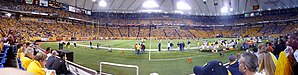 Minnesota Golden Gophers football - The 91st battle for the Little Brown Jug between the Minnesota Golden Gophers and Michigan Wolverines in the Metrodome.