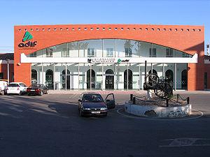 Calatayud railway station - The facade of Calatayud station in 2008