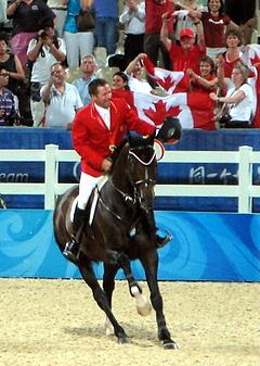2008 Olympic Games equestrian LAMAZE Eric, detail.jpg
