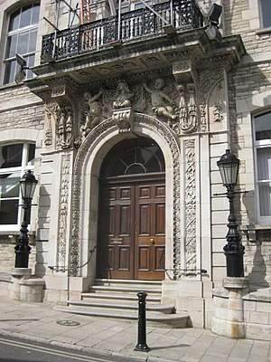 Swanage - Town Hall main entrance